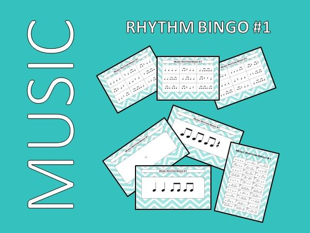 Music Rhythm Bingo #1 with Audio Files – Endless PowerPoint Games