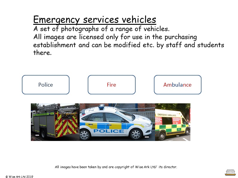 Emergency vehicles -photo set