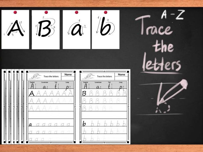 Alphabet worksheets,  Tracing letters worksheets. Upper and lower case letters