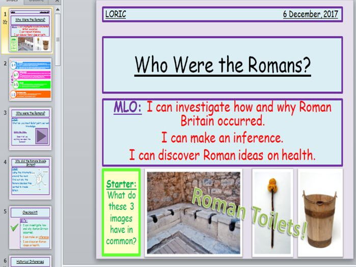 Romans introduction lesson.