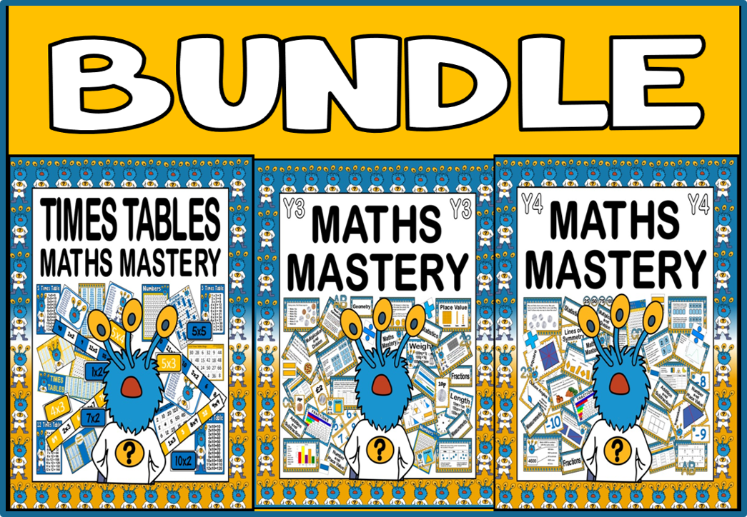 *BUNDLE* MATHS MASTERY YEARS 3 AND 4