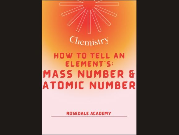 Features of An Element ~ Atomic Number & Mass Number GCSE/IGCSE Course 9-1 ~ Student Revision Notes