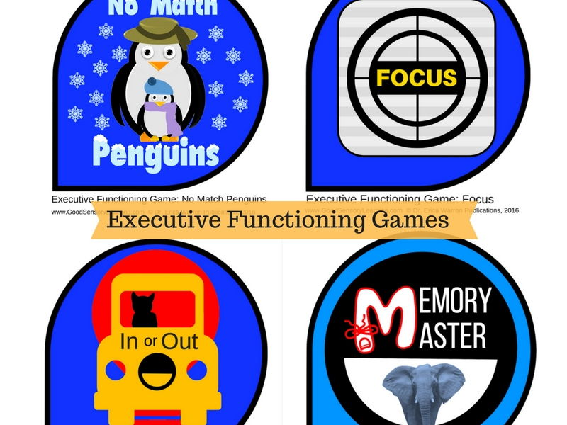 Executive Functioning Card Games Bundle