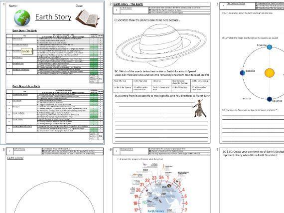 KS3 Earth Story Booklet