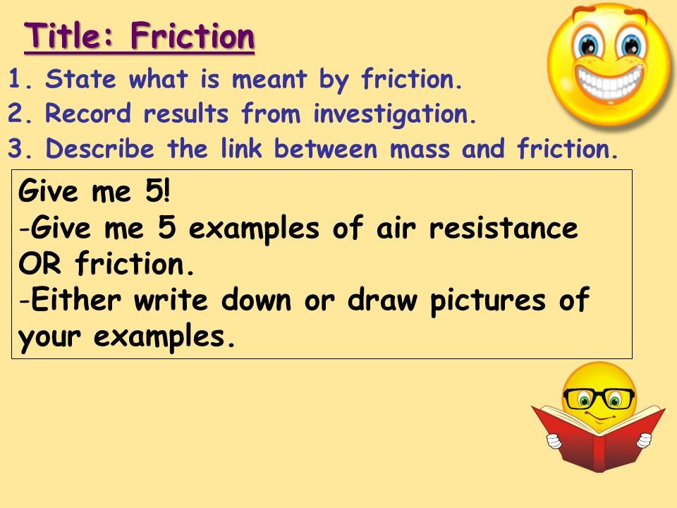 KS3 Physics: Friction