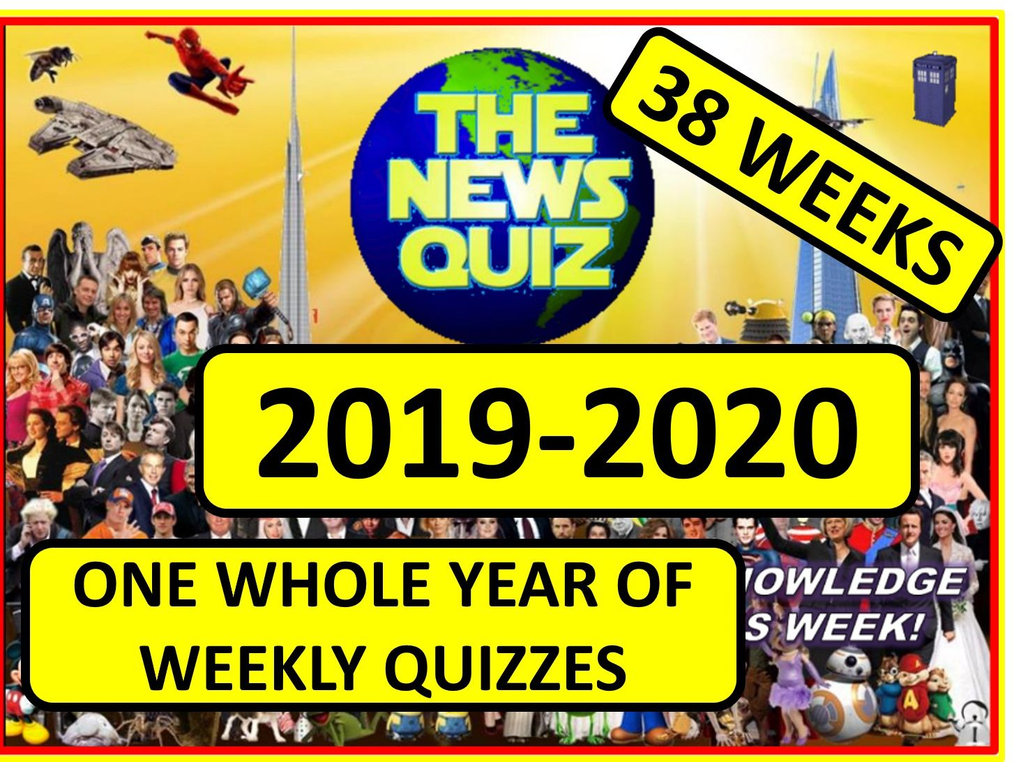 ONE YEAR of The News Quiz 2019-2020 Academic Year Tutor Form time Current Affairs