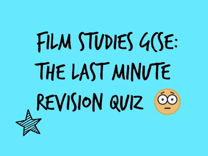 WJEC GCSE FILM STUDIES: A REVISION QUIZ ON FILM LANGUAGE