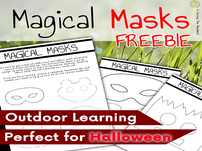 Magical Masks Outdoor Art Activity