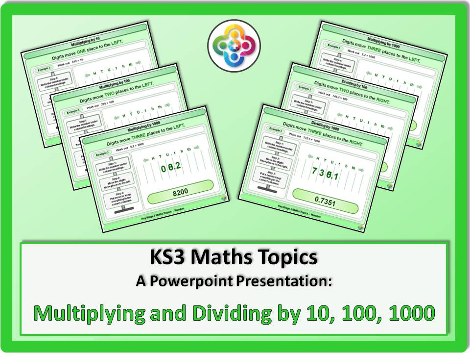 Multiplying and Dividing by 10 100 1000