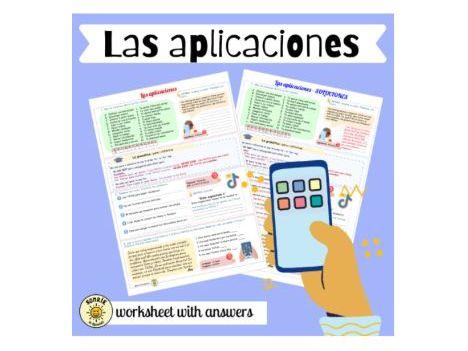 Mi gente: mis aplicaciones favoritas. Redes sociales. Spanish GCSE technology and apps. Answers