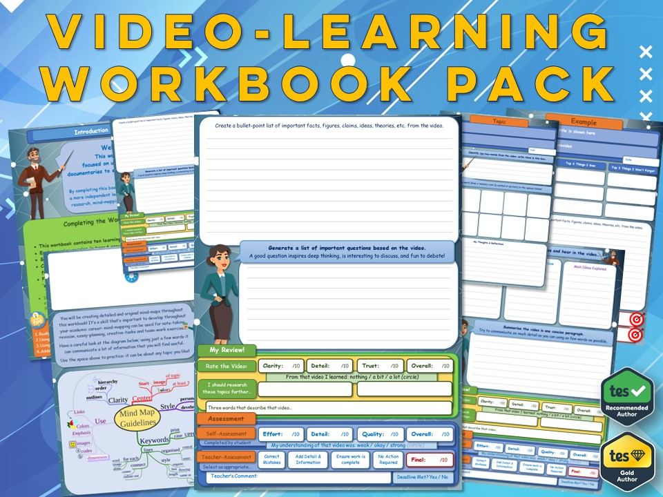 KS3 History Video-Learning Workbook Pack (x20)