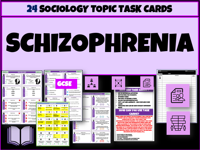 Schizophrenia Task Cards
