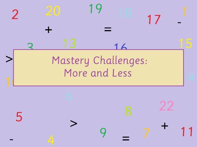 KS1 Math More and Less Mastery
