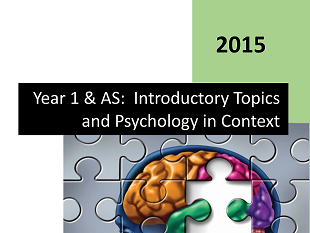 Complete Student Workbook - AQA Year 1 & AS Introductory Topics and Psychology in Context