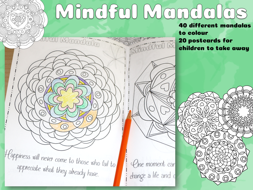 Mindful Mandalas for mindfulness colouring