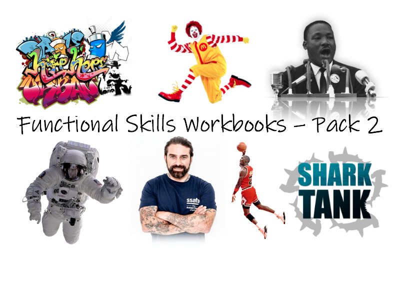 Functional Skills English L1/L2 Workbooks - Pack 2