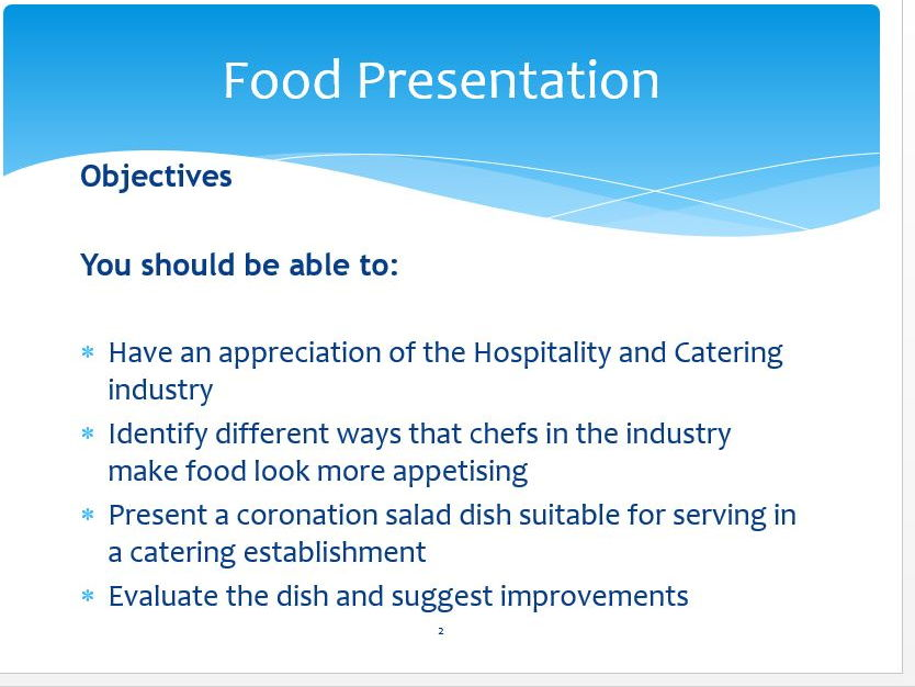 GCSE Food and Nutrition bundle for food presentation