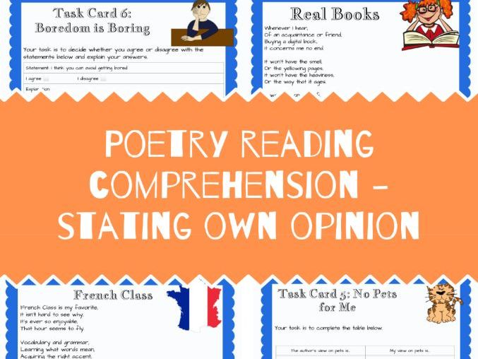 Poetry Reading Comprehension - Giving Own Opinion
