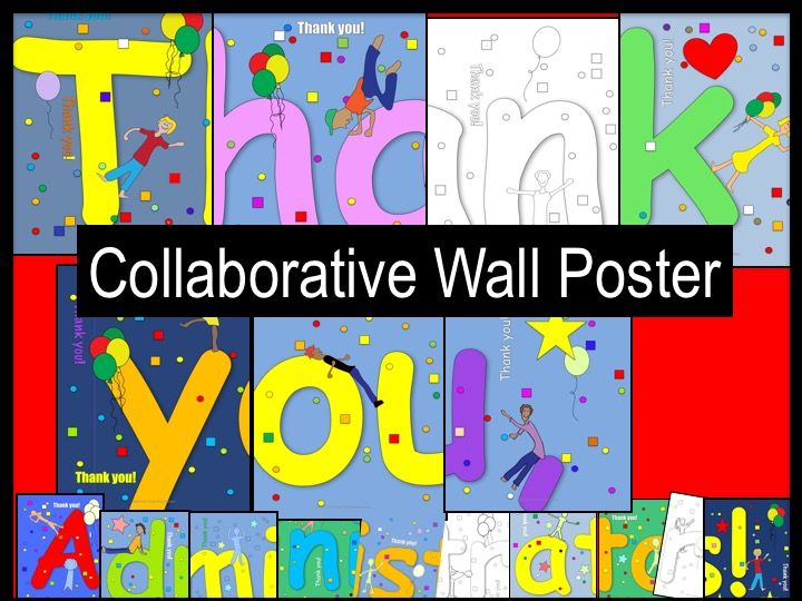 Thank You, Administrators! Collaborative Poster