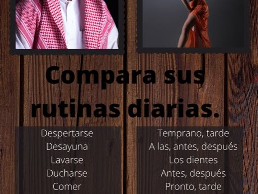 Comparing Spanish and Arabic routines