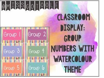 Group Numbers - Classroom Display