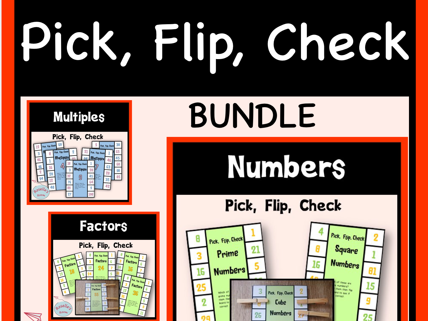 Pick, Flip, Check Numbers Bundle