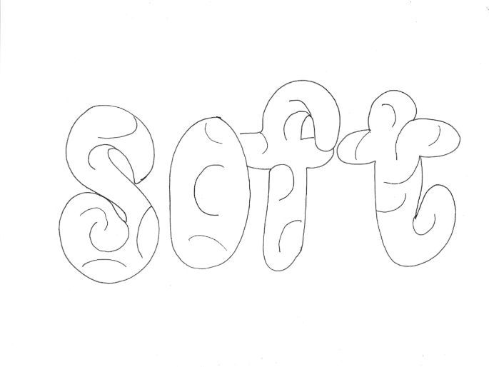 Soft: Materials and Properties Colouring Page