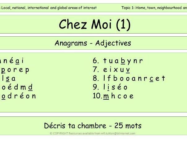 GCSE Vocabulary and Sentence Level Tasks THEME 2 TOPICS 1 & 2