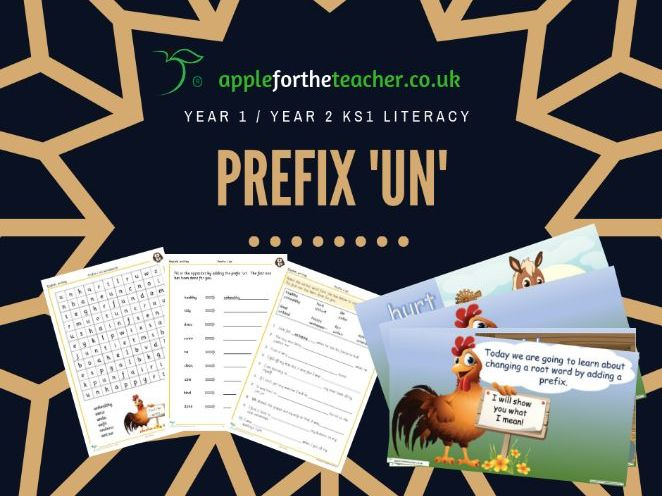 Prefix 'Un' SPAG KS1 Year 1 and Year 2