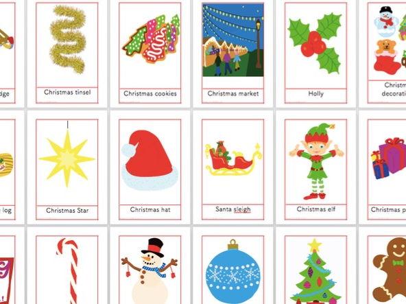 25 Christmas Vocabulary Flashcards