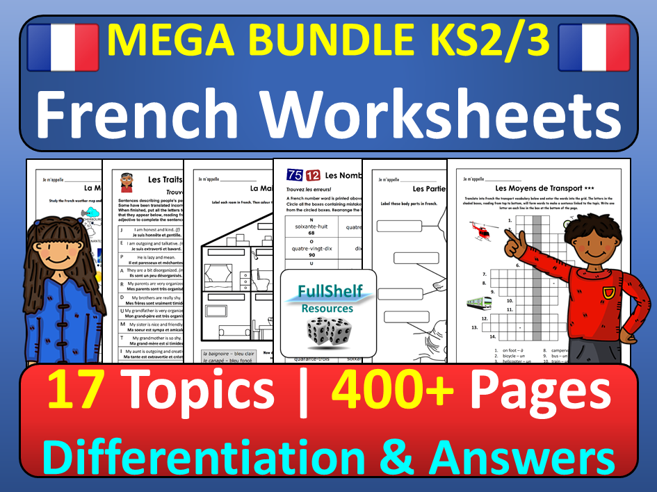French Worksheets KS2 KS3