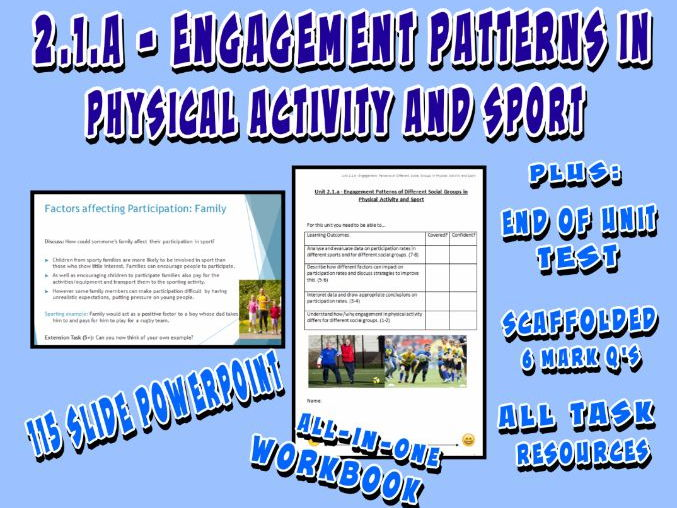 OCR GCSE PE 9-1 (2016) 2.1.a - Engagement Patterns in Physical Activity and Sport - Unit of Work