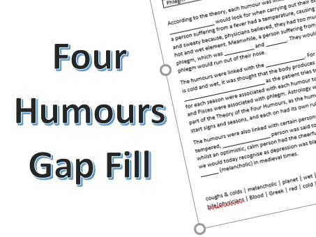Theory of the Four Humours: Gap Fill Activity