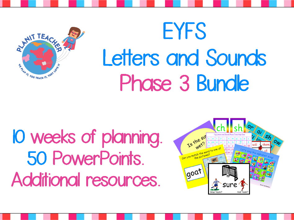 Phase 3 Letters and Sounds - Value Bundle - Planning, PowerPoints and Resources