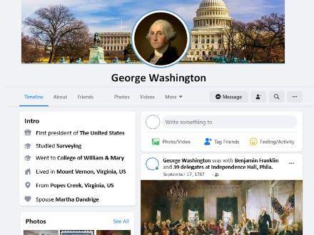 George Washington Facebook Profile