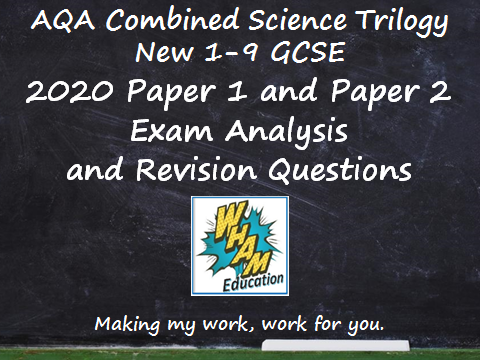 AQA Combined Science Trilogy Paper 1 and 2 Revision and 2020 Exam Support