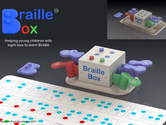 Braille Box 3D model for the D&T GCSE exemplar folder
