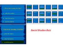 Social Studies Quiz game for grade 4