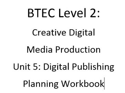 BTEC Print Production Planning Template