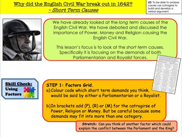 Why did the English Civil War break out in 1642?  – Short Term Causes (updated)