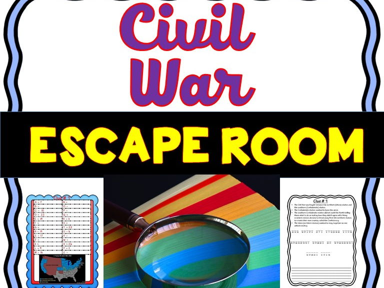 U.S. Civil War Escape Room - No Prep!