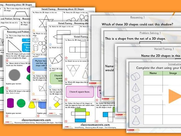 Year 5 Reasoning about 3D Shapes Summer Block 2 Step 9 Lesson Pack