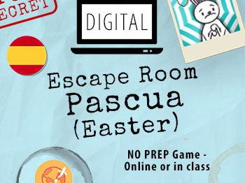 Escape Room PASCUA - Digital interactive Spanish activities and games - Español