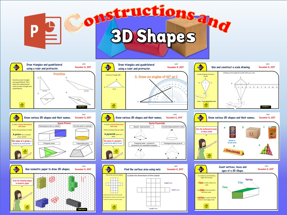 KS3. G6. Construction and 3D Shapes