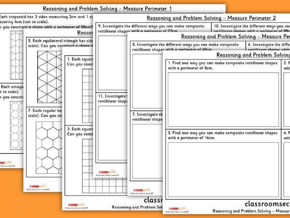 Year 5 Measure Perimeter WRM Perimeter and Area Reasoning and Problem Solving