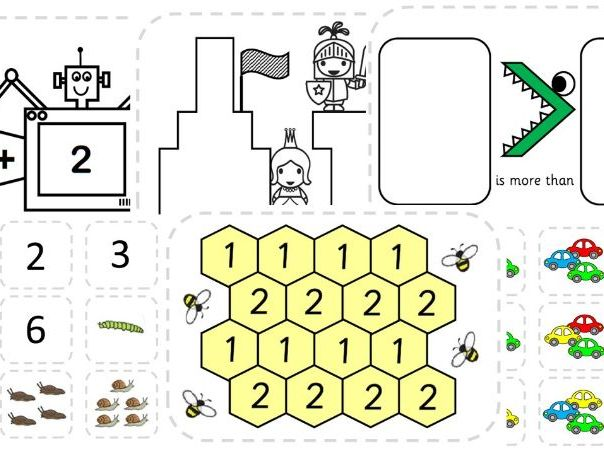 Early Years Maths Games Bundle - Matching, Recognition, Number to 5, 10 and 15, +1, -1, +2 and -2