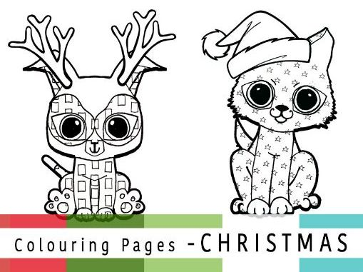 Mindfulness Christmas Colouring Sheets | Pattern Puppies ...