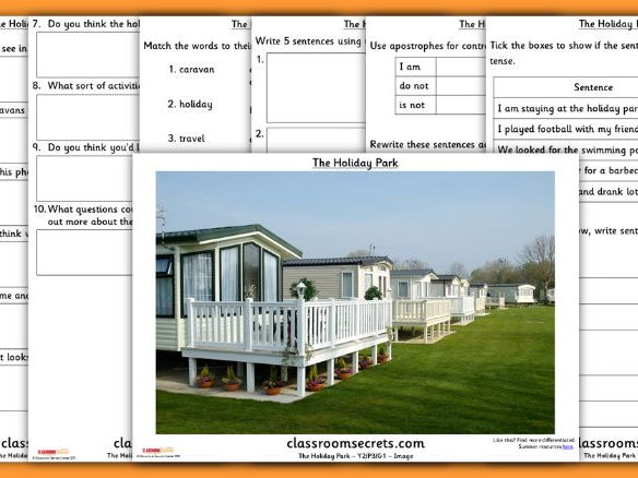 Year 2 Summer Picture Guided Reading Holiday Park