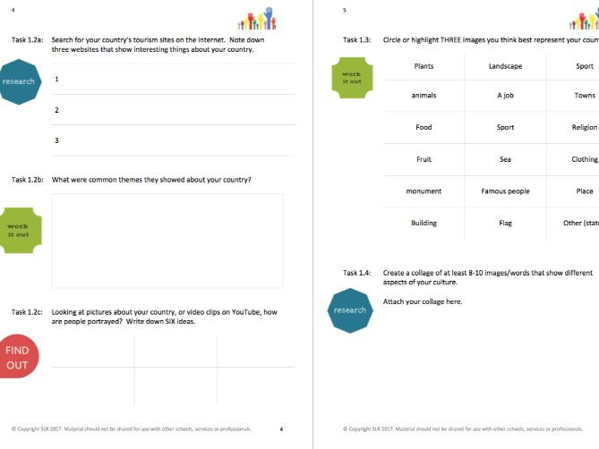 DAY-TO-DAY LITERACY - USE YOUR WORDS (6) - CULTURE & TRADITIONS literacy workbooklet