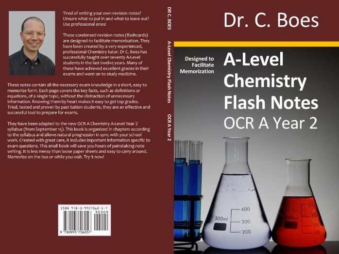 OCR A A-Level  Chemistry Condensed Revision Notes (Flashcards) Year 2